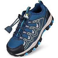 UOVO Running Tennis Shoes Boys Waterproof Shoes Kids Hiking Outdoor Athletic Sneakers Slip Resistant