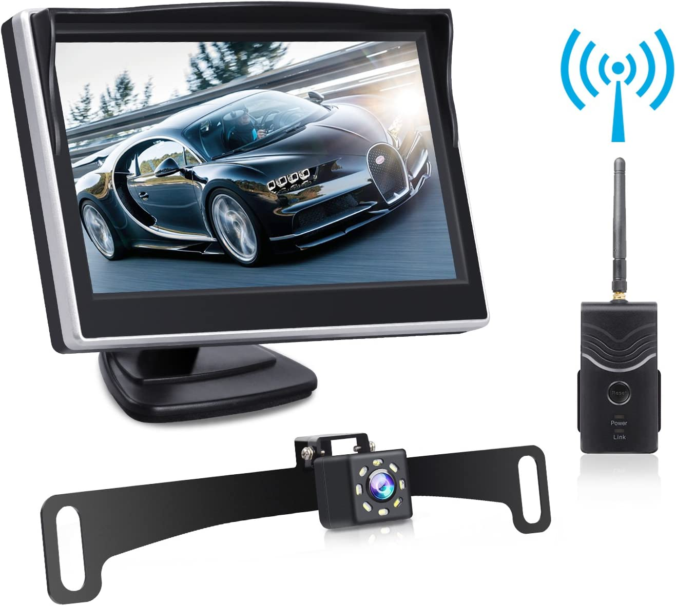 Yakry Windshield Mount Suction Cup Mount Bracket for 7 Inch Display Monitor Rear View Backup Camera Monitor Display Fix The Monitor on Windshield