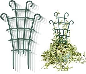 Seway Trellis for Climbing Plants, Garden Trellis for Climbing Outdoor Plants DIY Potted Plant Support Plastic Flower Supports Plastic Mini Superimposed Garden Plant 4 Packs
