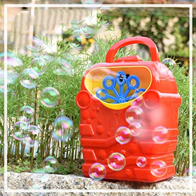 Makalon 2020 Bubble Machine Kids Durable Automatic Bubble Blower Outdoor Toy for Girl Boy (Red): Health & Personal Care