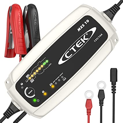 Oferta amazon: CTEK MXS 10 Cargador de batería Completamente automático (Carga, Mantenimiento y reacondicionamiento de baterias de automóvil, Remolque, Autocaravana) 12V, 10 amperios - Toma de la UE