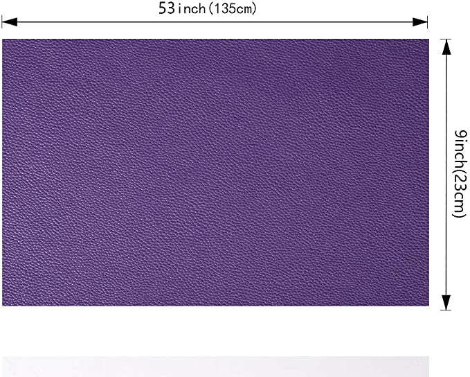 Faux Artificial Leather DIY Fabric For Bag /& Bow Making Purple and White Polka Dot Print Synthetic Leather Printed Sewing Vinyl 10135