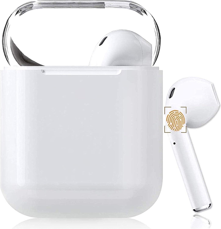 Auriculares Bluetooth 5.0 Auriculares Inalambricos Cascos Bluetooth Headphone Deportivos Estéreo con Mic y Cancelación de Ruido Caja de Carga - Auriculares Compatible con iPhone/Apple Airpods/Android