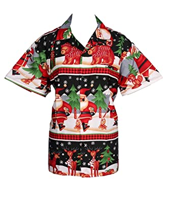 e0f1d59fa kiklo Mens Christmas Santa Xmas Hawaiian Shirt Hawaii Gift HIM Party  Holiday S to XXL (S, B AUSK): Amazon.co.uk: Clothing