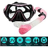 PluieSoleil Maschera da Sub Professionale Vetro Temperato Antiappannamento per visibilità cristallina