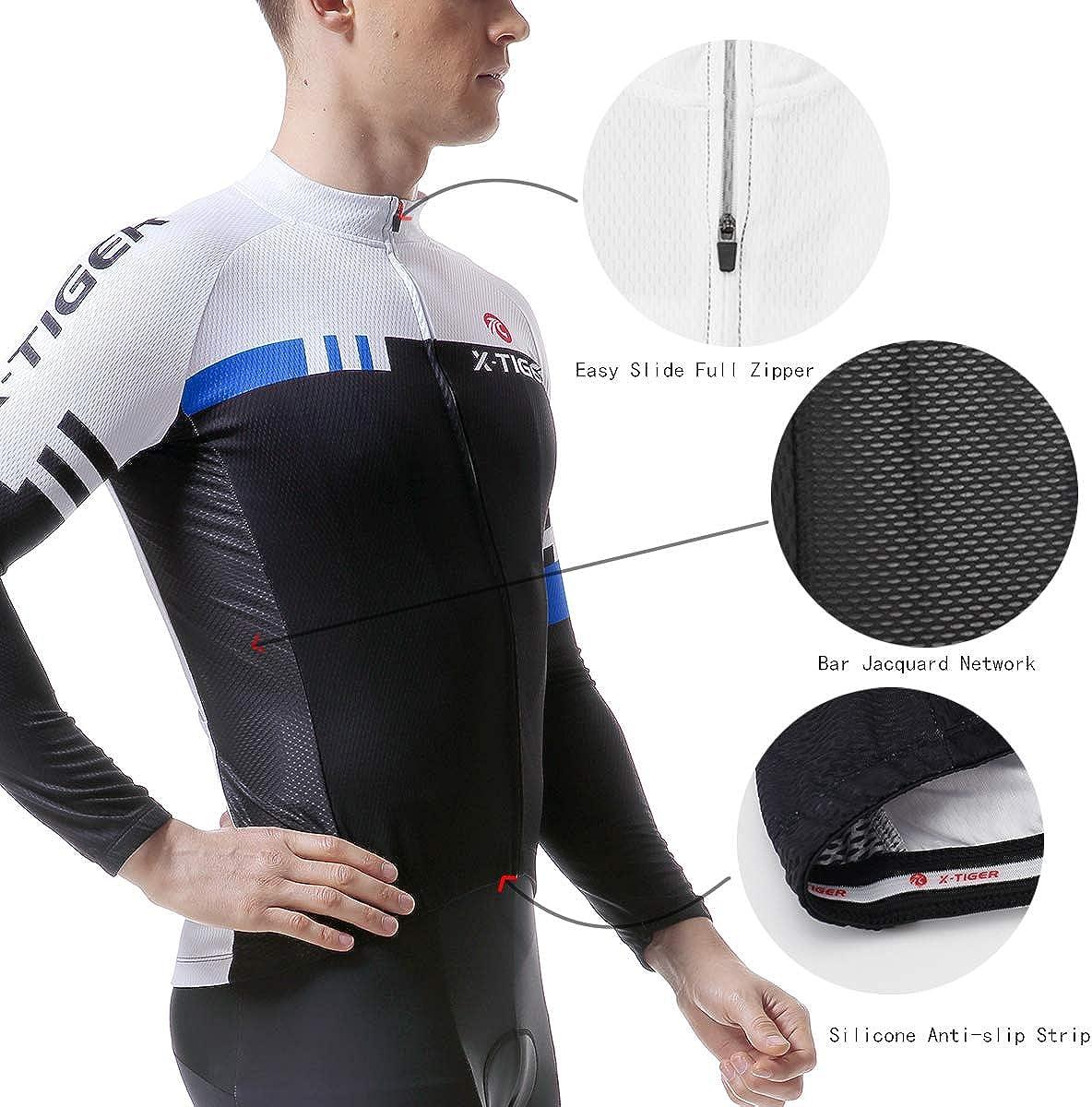 Amazon.com: X-TIGER - Conjunto de camiseta de ciclismo de ...
