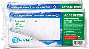 RV Air RV AC Filter | 2 Filters AC 101G Air Filters for RV Air Conditioner | Made in USA RV Filter to Replace Standard RV Air Conditioner Filters for Better Airflow and Cleaner Air | MERV 6 Rated