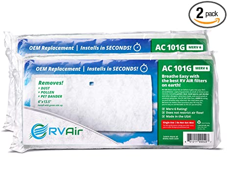 RV Air RV AC Filter | AC 101G Air Filters for RV Air Conditioner | Made in  USA RV Filter to Replace Standard RV Air Conditioner Filters for Better