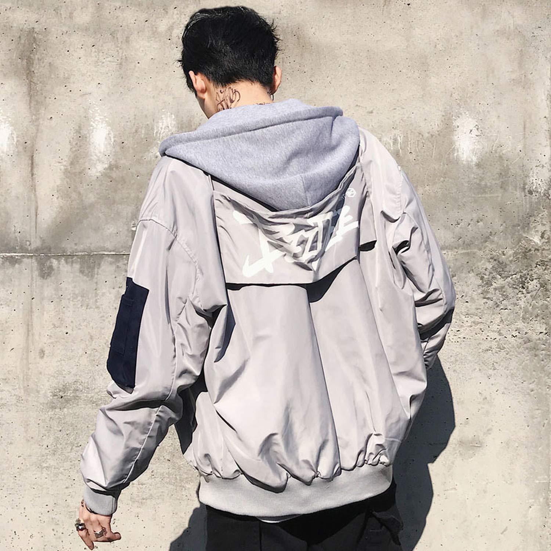 Victoria-show-outerwear Hip Hop Jackets Men Patchwork Jackets Casual Men 2019 Fashion Men Jacket HW041