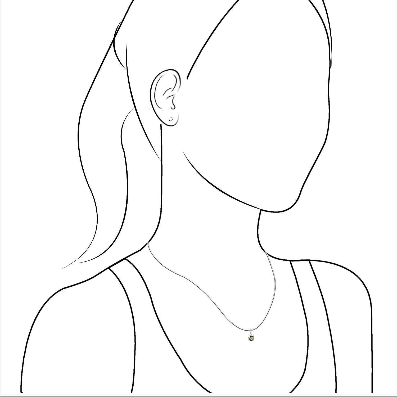 Starborn Genuine Moldavite Classic Faceted Pendant
