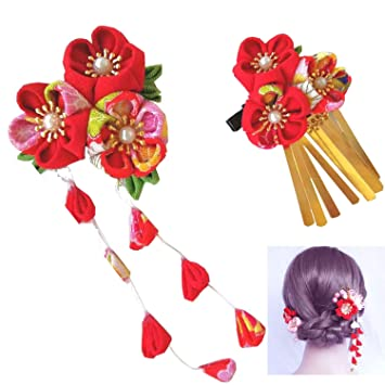 acheter mieux volume grand site professionnel Wohlstand Pince à Cheveux,kimono fleur pince à cheveux fleur ...