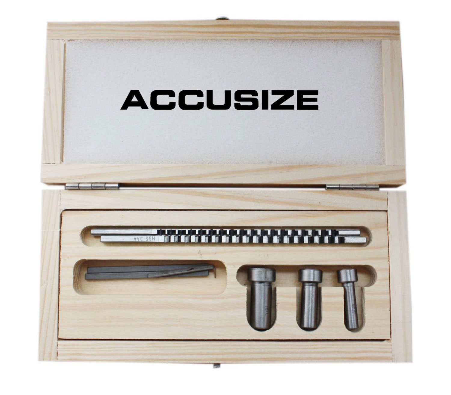 Accusize - No.60 Metric HSS Keyway Broach Sets in Fitted Box, 5100-0060