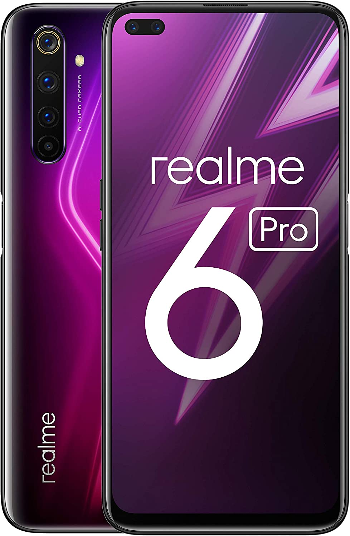 "realme 6 Pro – Smartphone de 6.6"", 8 GB RAM + 128 GB ROM, Procesador OctaCore Snapdragon 720G, Cuádruple Cámara AI 64MP, Dual Sim, Color Lightning Red: Amazon.es: Electrónica"