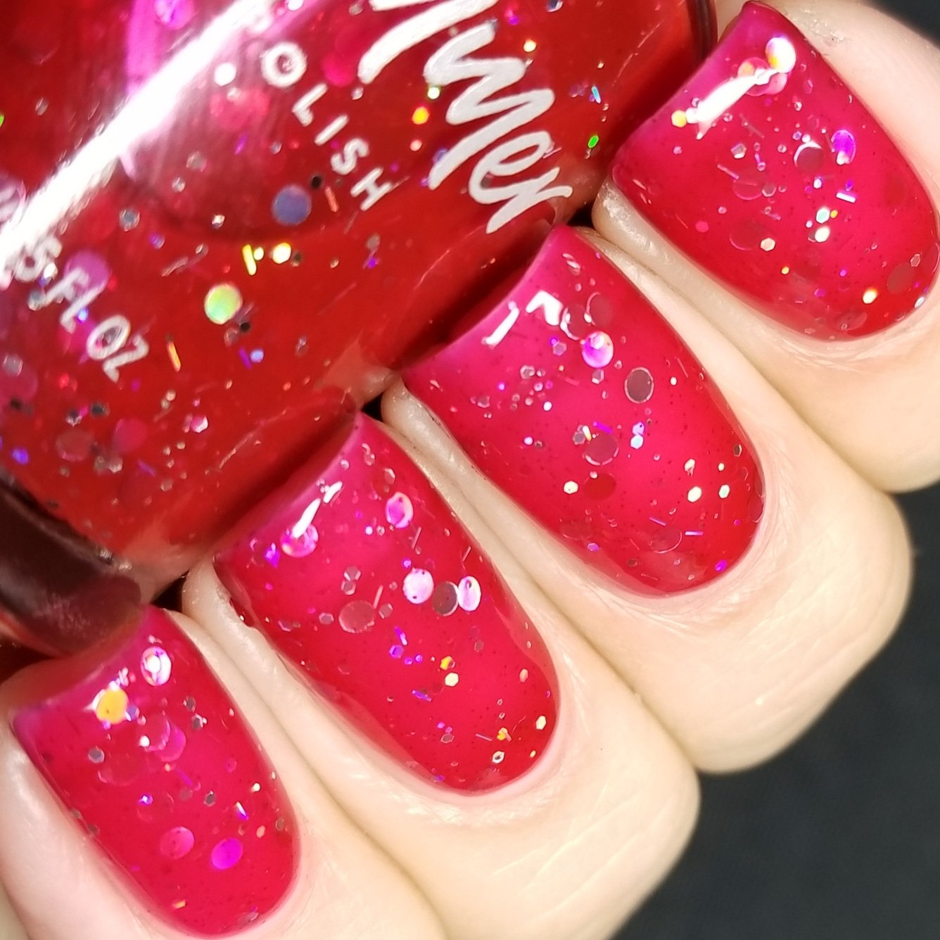 Amazon.com : Showgirl Black And Fuchsia Pink Glitter Nail