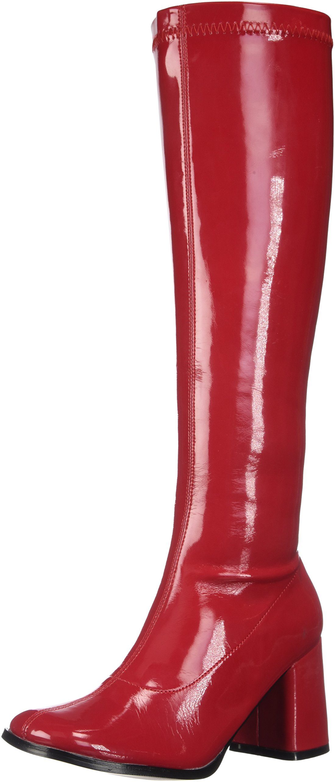 Funtasma Women's Gogo300hq/Br Boot, Black/Red Patent, 9 M US