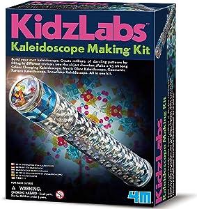 4M Kidzlabs Kaleidoscope Making Kit - Optical Light Physics Stem Toys Craft Gift for Kids & Teens, Boys & Girls
