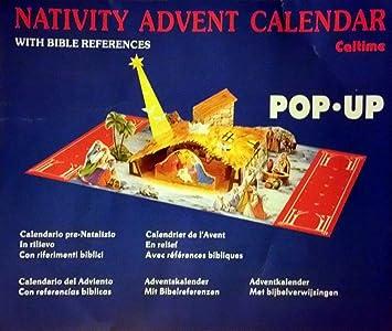 Amazon best valuepop up nativity best valuepop up nativity advent calendar with biblescripturexmas negle Choice Image