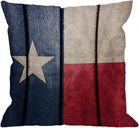 Amazon Com Hgod Designs Texas Flagn Pillow Covers Decorative Throw Pillow Vintage Wood Texas Flag Pillow Cases Cotton Linen Outdoor Indoor Square Cushion Covers For Home Sofa Couch 18x18 Inch Home Kitchen