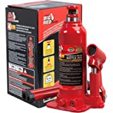 BIG RED T90403B Torin Hydraulic Welded Bottle Jack, 4 Ton (8,000 lb) Capacity, Red