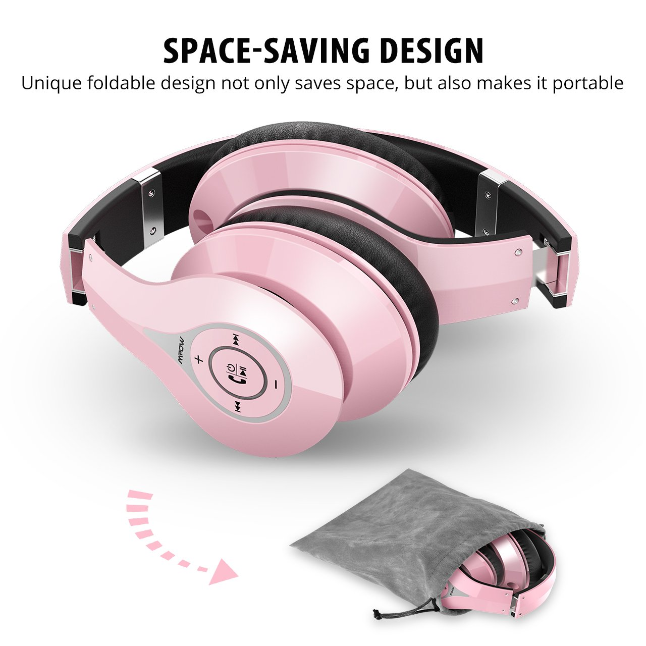 91b04803d27fe7 Stereo Hi-Fi Sound; Designed for an excellent music & communication  experience, Mpow headset ...