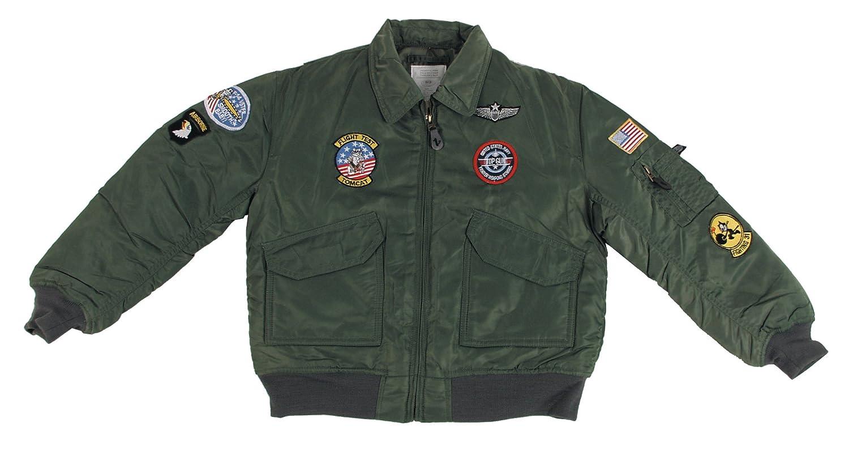 MFH US CWU Children s Pilot Jacket with Aviator Badge  Amazon.co.uk  Sports    Outdoors 12018a2163