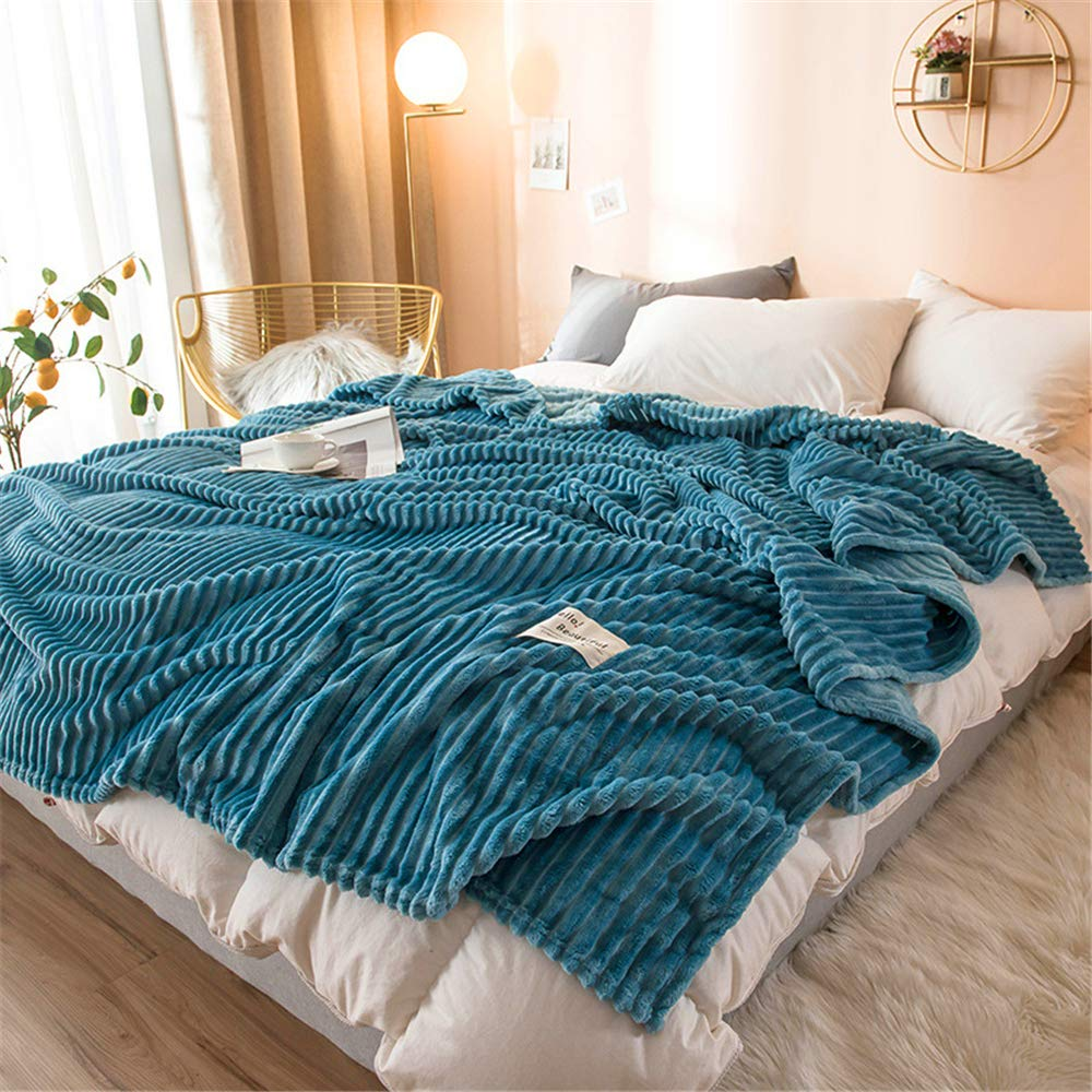 Autumn and Winter Thick Coral Carpet air Conditioning Blanket Natural Simplicity Soft and Smooth Microfiber Sapphire 120200cm by iangbaoyo