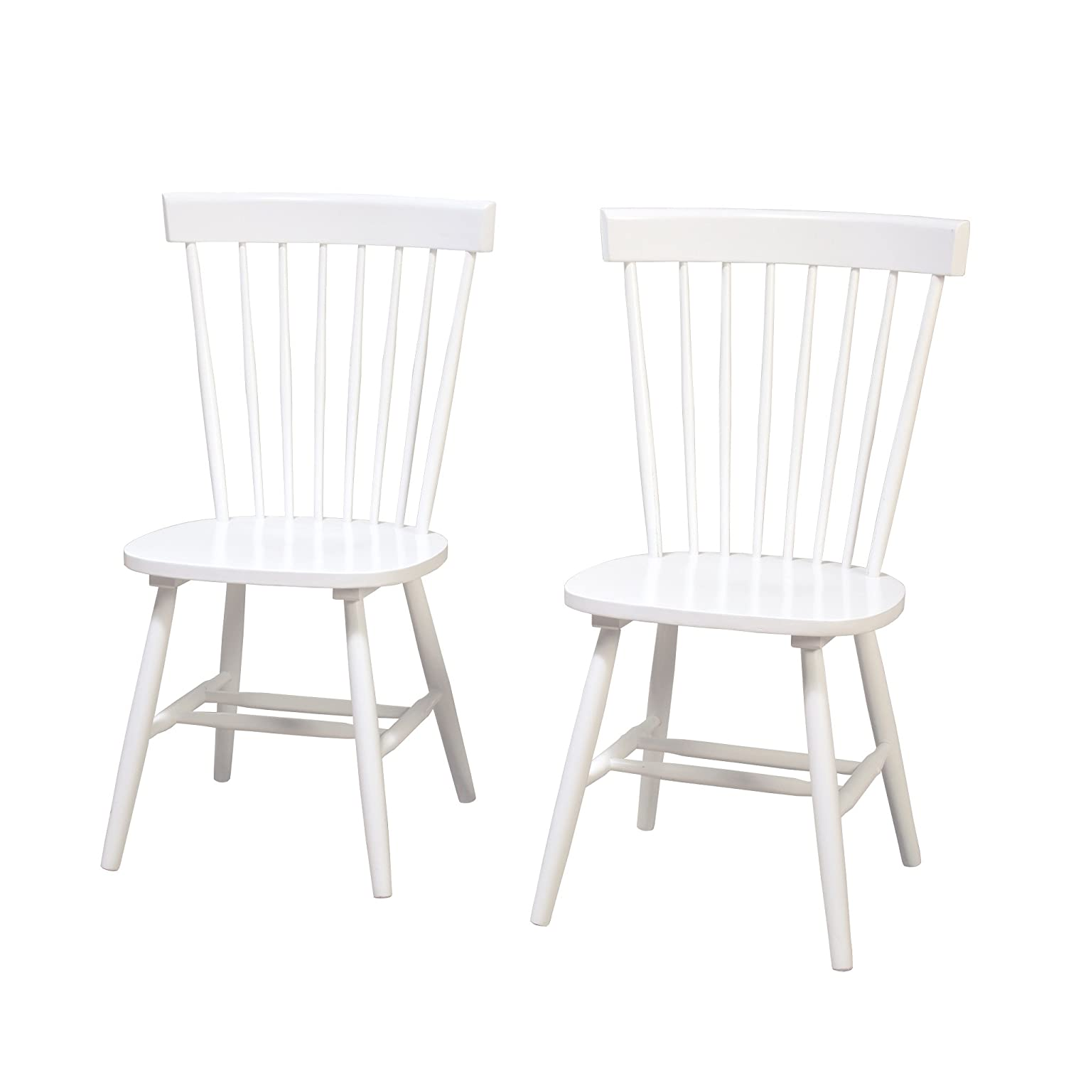 Amazon com target marketing systems 64918wht pr venice set of 2 dining chairs white chairs
