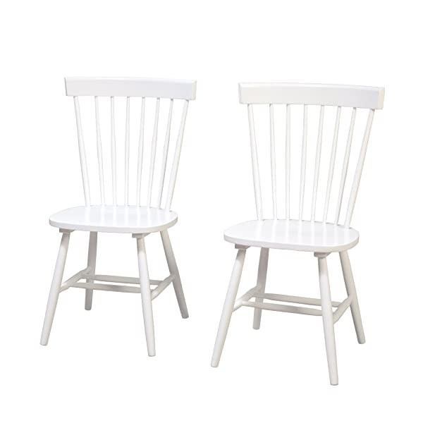 Target Marketing Systems 64918WHT PR Venice Set of 2 Dining Chairs, White