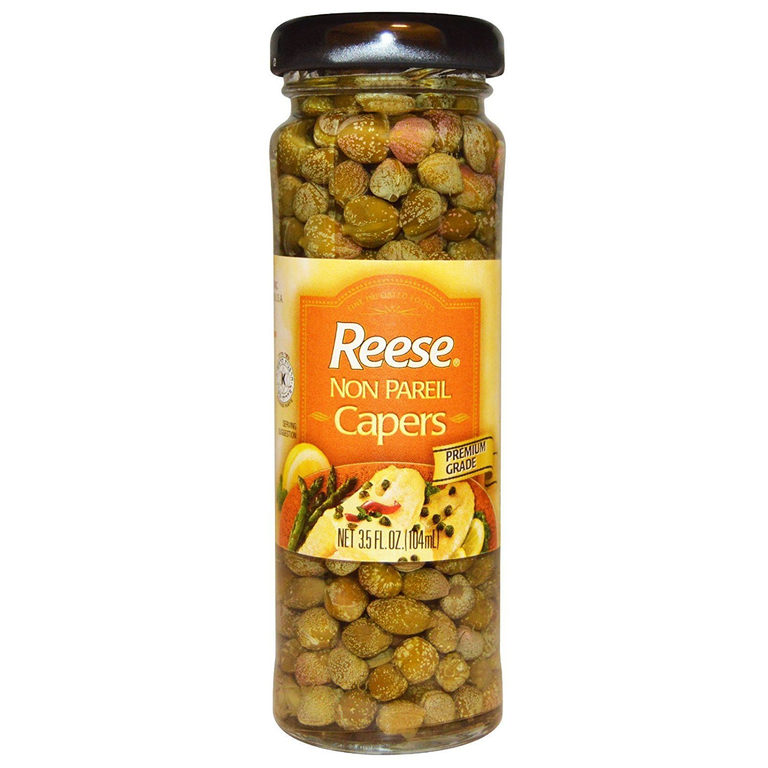 Pack of (2) Reese Non Pareil Capers, 3.5 fl oz