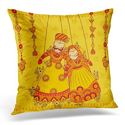 Amazon Sdamas Decorative Pillow Cover Rajasthan Design Of Cool Indian Style Decorative Pillows