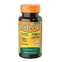 American Health Ester-C with Citrus Bioflavonoids Vegetarian Tablets - 24-Hour Immune...