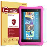 All-New Fire 7 / Fire 7 Kids Edition Screen Protector(Will Not Fit the 2015 version) OMOTON Tempered Glass Screen Protector with [Crystal Clear][Scratch Resistant] for All-New Fire 7 / Fire 7 Kids Edition [7 Inch](ONLY 2017 Released)