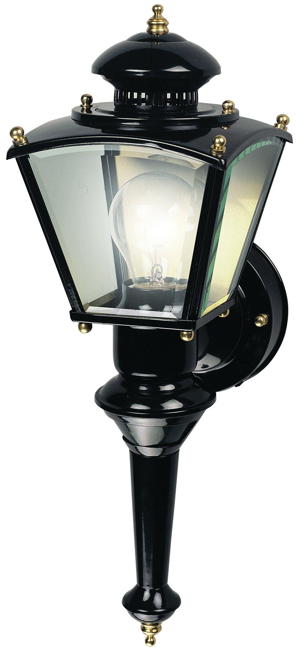 Heath HZ-4150-BK Zenith Motion-Activated Four-Sided Coach Light, Black Brass by Heath Zenith
