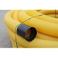 Tubo de drenaje, DN 100, perforado, 10 m