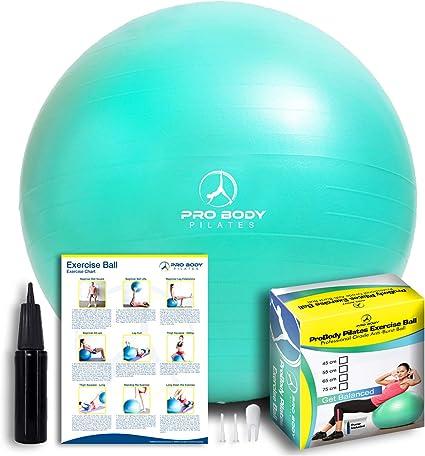 Yoga Ball Balance Gymnastic  Pilates Ball  Exercise Fitness  Strength