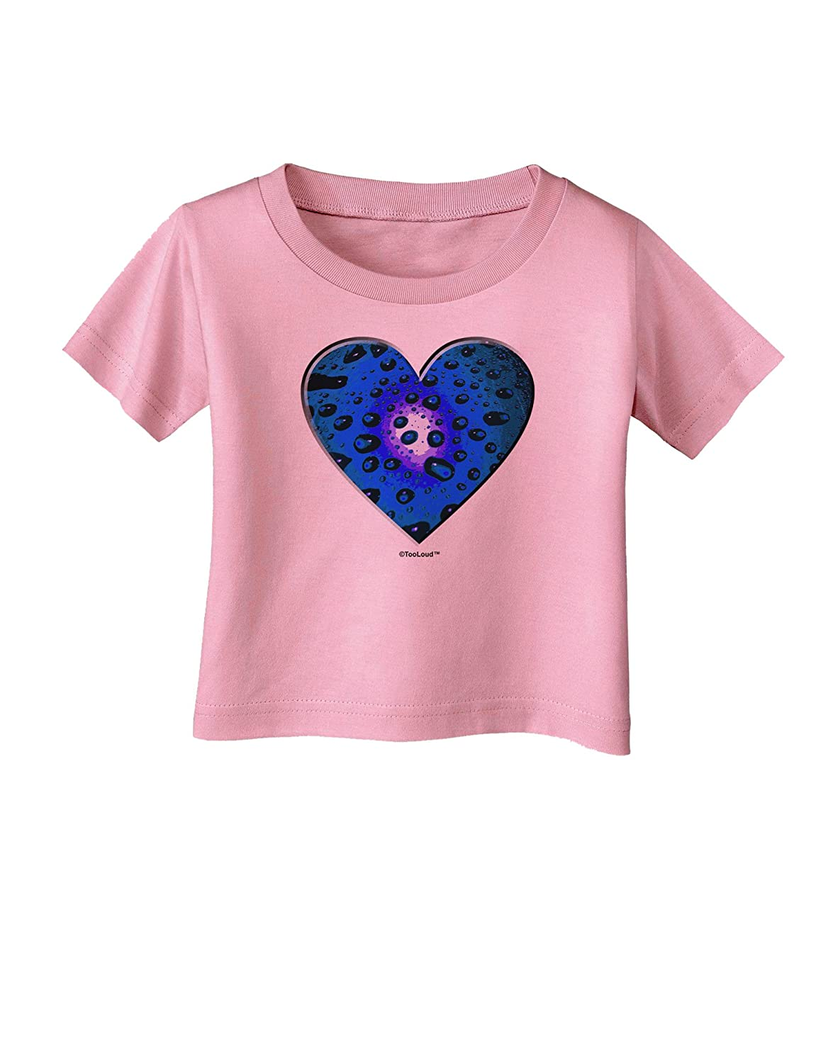 TooLoud Water Droplet Heart Blue Infant T-Shirt