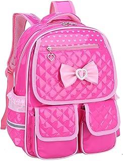cfae331fa7 Gazigo Reflective Girls Cute School Backpack PU Leather Kids Bookbag Satchel