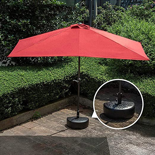 Parasol Sombrilla De Media Pantalla con Manivela 2.3x1.2m Half Circular JardíN, Terraza, Patio LDFZ: Amazon.es: Jardín