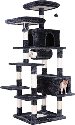 LAZY BUDDY 80 Multi-Level Cat Tree Large Play House Climber Activity Center Tower Stand Furniture, with Scratching Post,Jingling Ball,Condo,Tunnel and Anti-Dump Device for Kitten,Cat,Pet