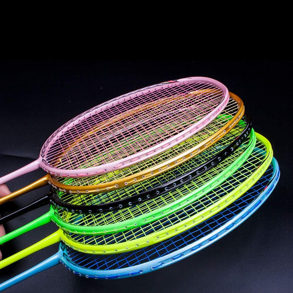 Senston N80-YT Jointless Badminton Racket Single High-Grade Badminton Racquet Carbon Fiber Badminton Racket Gold with Racket Cover and Overgrip by Senston (Image #3)