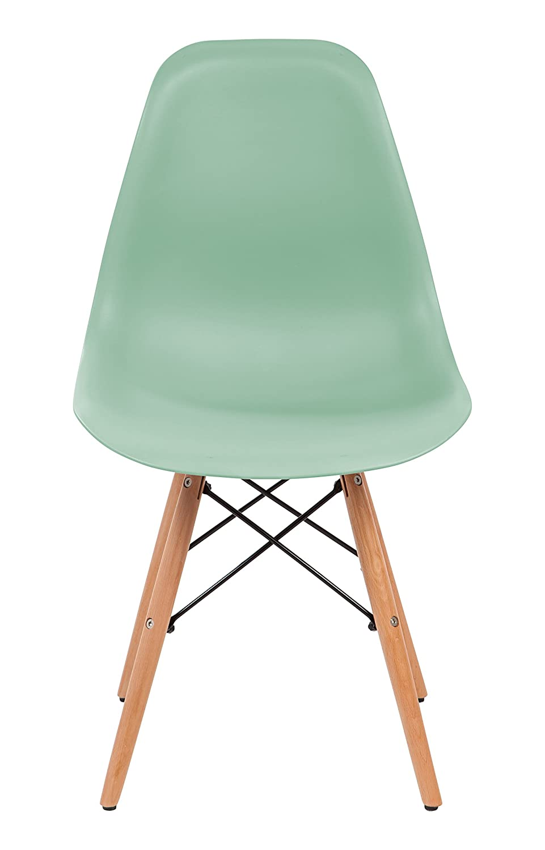 Perfect Amazon.com: IRIS Mid Century Modern Shell Chair With Wood Eiffel Legs, 2  Pack, Mint Green: Kitchen U0026 Dining