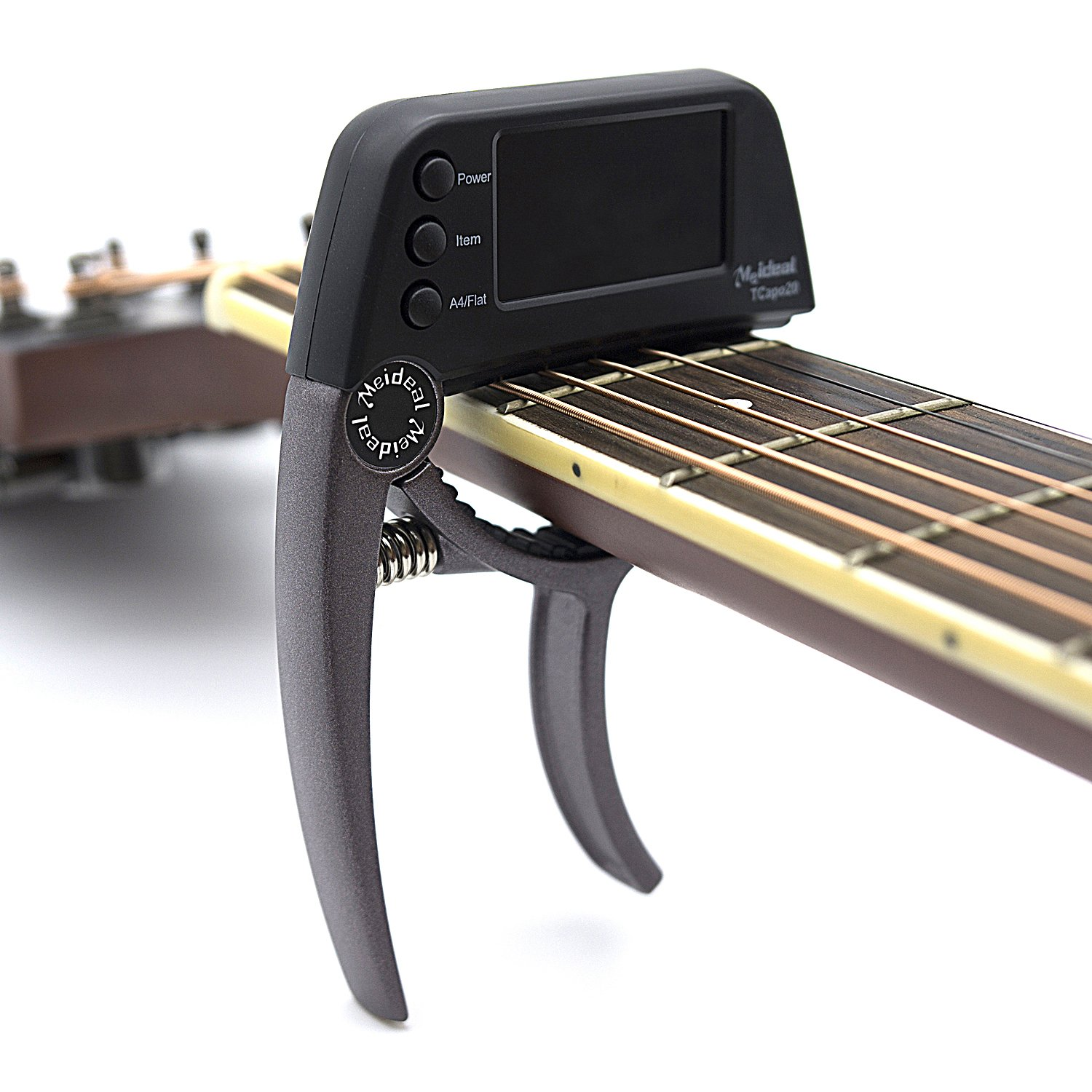 Professional Guitar Tuner,Loftstyle Chromatic Clip-on Tuner for Guitar With Rotational Double Color LCD Display Single-handed Pretty Accurate Tuner A4 Pitch Calibration 430Hz to 450Hz Purple