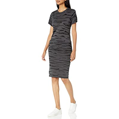Monrow Women's Tiger Crew Shirred Dress: Clothing