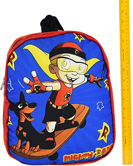 Chhota Bheem Plush School Bag for Kids - 12inches Bag - Mighty Raju Red Stylish Soft Bag - with 1 Compartments - Back to School Bags for Children