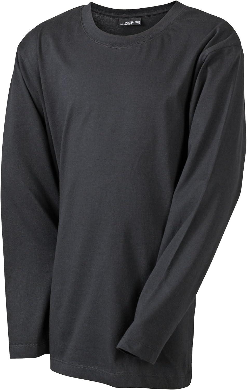 James /& Nicholson Unisex Junior Long Sleeve Medium Shirt