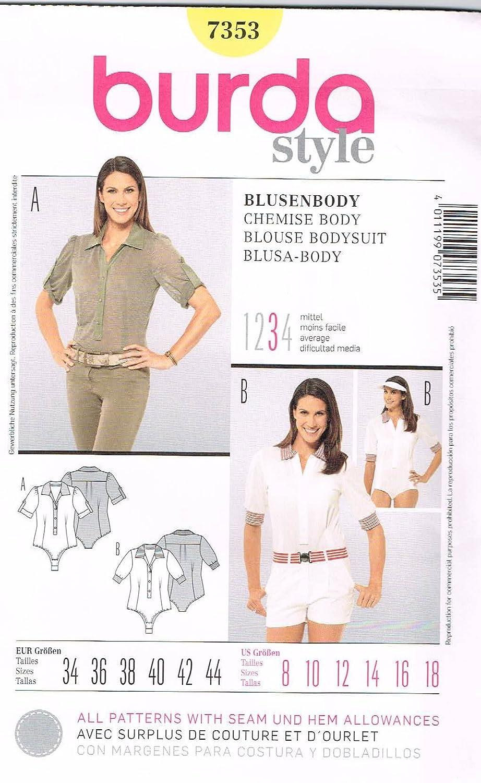 Burda Schnittmuster 7353 Damen Blusenbody Gr. 34 - 44: Amazon.de ...
