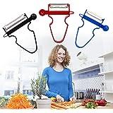 Vegetable Peeler -Magic Trio Peelers Set Potato Peeler Stainless Steel Shredder Slicer Fruit Vegetable Kitchen Starter Kit