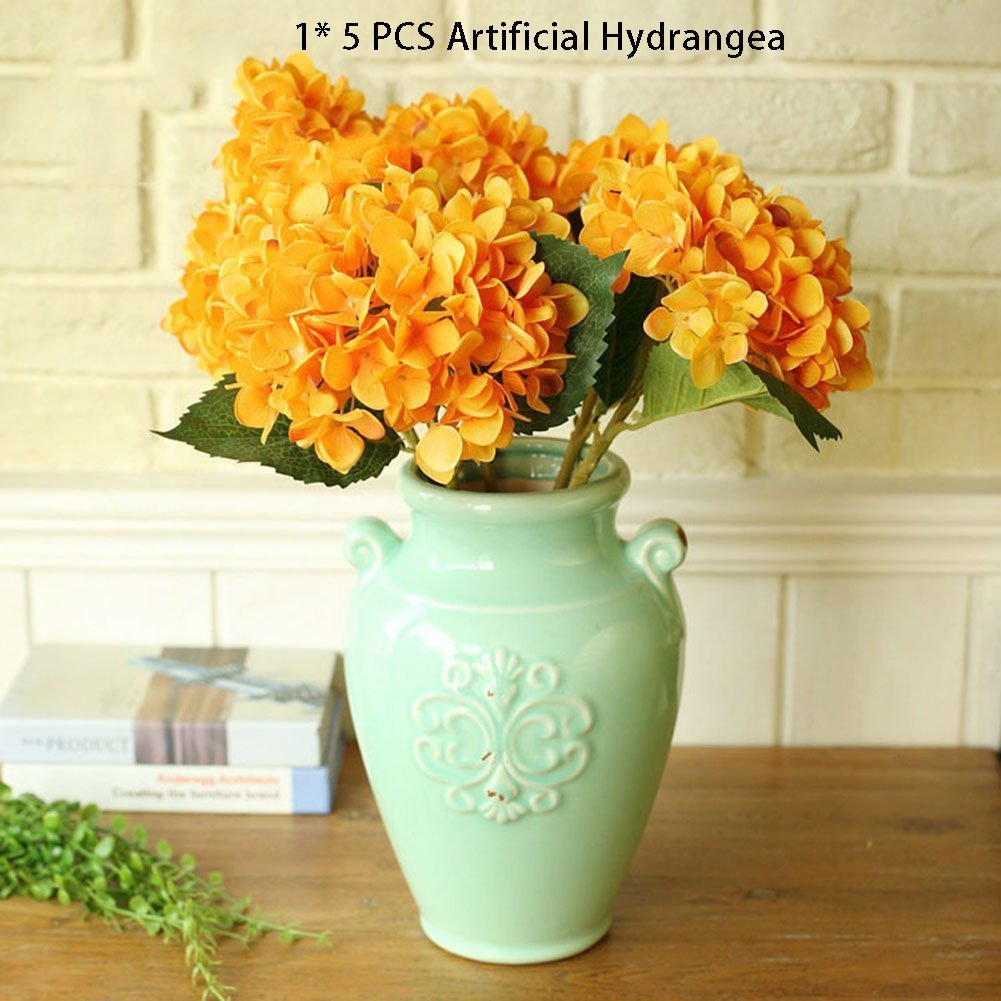 Amazon Ysber 3 Big Heads Artificial Hydrangea Silk Fake Flowers
