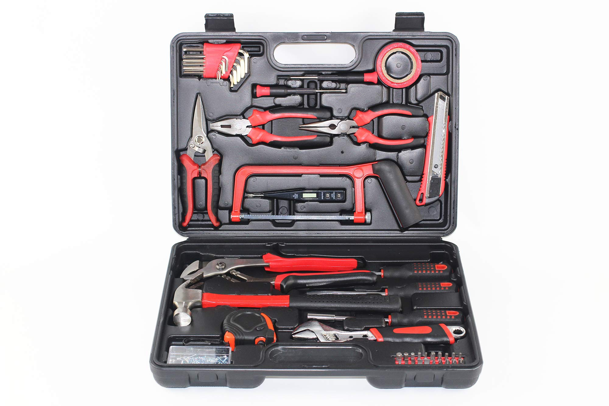Seven Avail 108PCS Home Tool Kit with Adjustable Wrench, Mixed Household Tool Set Hand-Tool Kit with Plastic Tool box Storage Case by Seven Avail