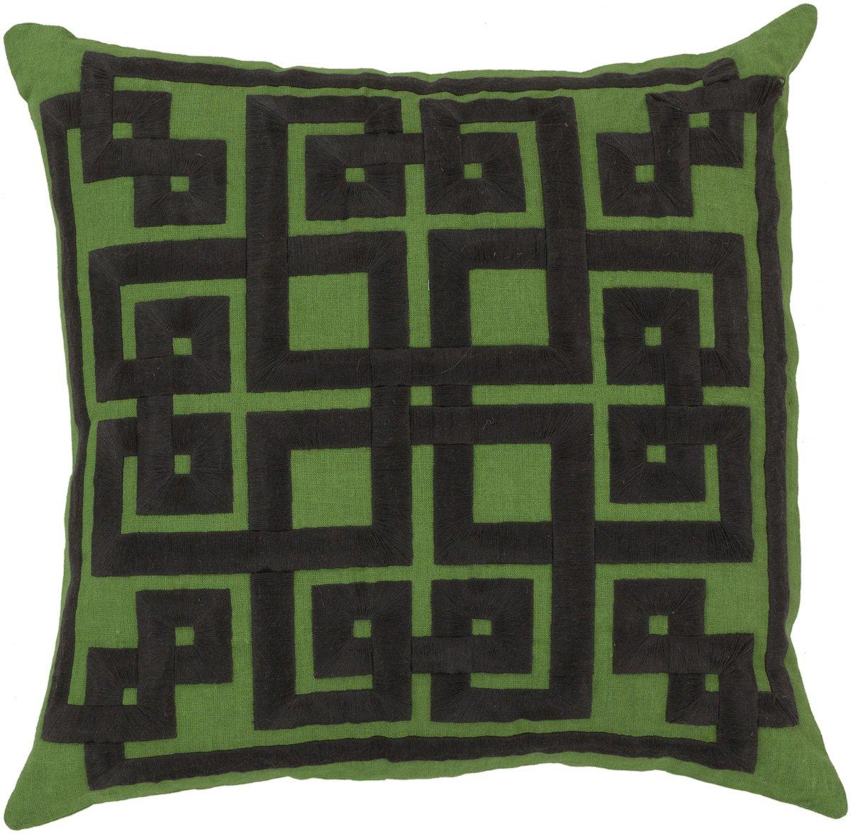 Surya ld012 – 2020d Down Fill枕、20インチby 20インチ、チャコール/ライム   B00H2KDY5Y